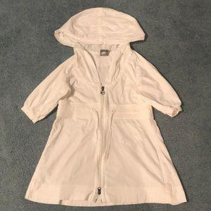 NIKE White Small Zip-Up Sweatshirt Hoodie